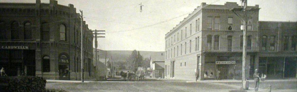 Downtown Pomeroy Washington, 1908